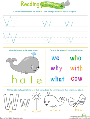 Get Ready for Reading: All About the Letter W