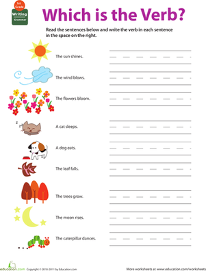 Batty About Verbs – Printable English Worksheets for Kids – JumpStart