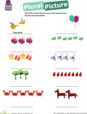 First Grade Reading & Writing Worksheets: Get into Grammar: Plural Nouns