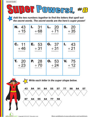 Super Powers! Two-Digit Addition #8