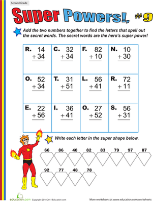 Super Powers! Two-Digit Addition #9
