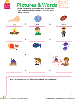 Second Grade Reading & Writing Worksheets: Get a Grip on Grammar: Compound Words #11