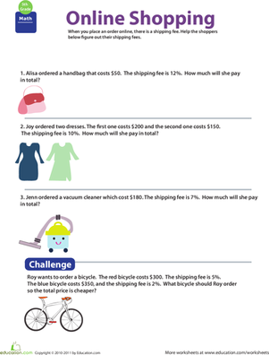 Money Math: Shopping and Shipping #1