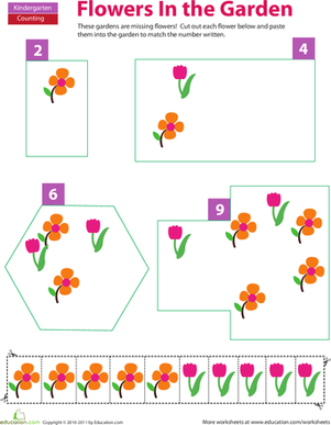 Cut and Paste Counting: Flowers