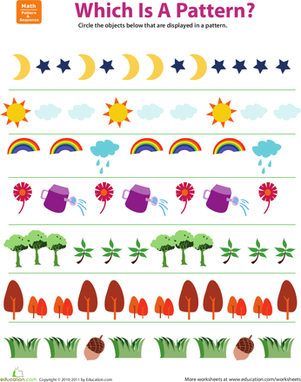 1st Grade Patterns Worksheets & Free Printables | Education.com