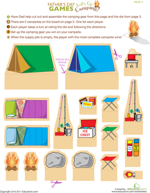 Second Grade Holidays & Seasons Worksheets: Camping Worksheet