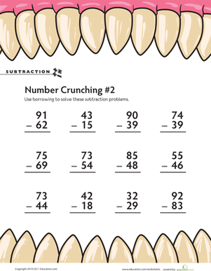 Subtraction Number Crunching #2