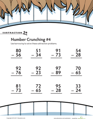 Subtraction Number Crunching #4