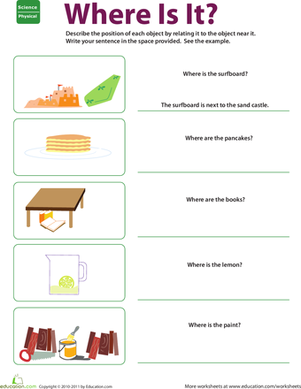 Printables Position Worksheets For Kindergarten where is it describing position worksheet education com in this kids practice by relating each object to another near understanding relative is
