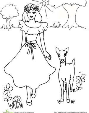 Color the Pretty Princess: 5