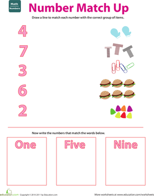Kindergarten Math Worksheets: Connect the Numbers