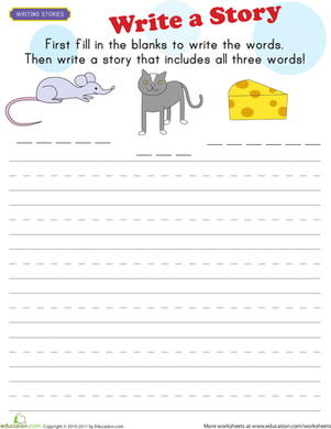 First Grade Reading & Writing Worksheets: Picture Story Starter