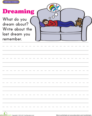 First Grade Reading & Writing Worksheets: Dream Writing