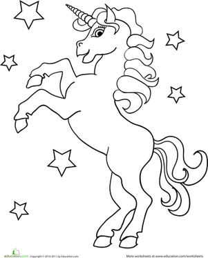 preschool coloring worksheets unicorn coloring page