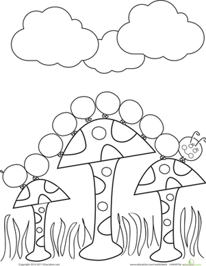 Preschool Coloring Worksheets: Caterpillar Coloring Page