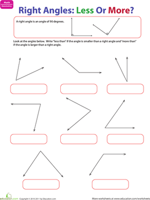 Printables Geometry Angles Worksheet right angles geometry worksheet education com
