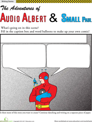 Fifth Grade Reading & Writing Worksheets: Make Your Own Superhero Comic