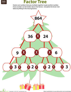 Fill in the Factor Tree