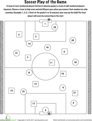Kindergarten Math Worksheets: Skip Counting Game