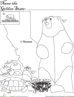 First Grade Social Studies Worksheets: Golden State