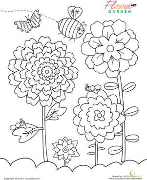 Flower Garden | Worksheet | Education.com