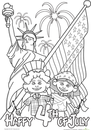 Second Grade Holidays Worksheets: 4th of July Celebrations