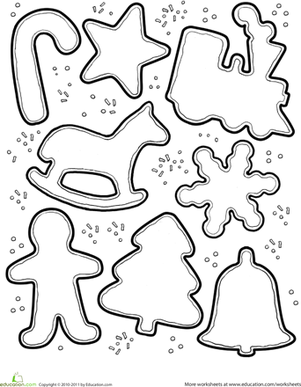 Christmas Cookie Decorating Activity | Coloring Page | Education.com