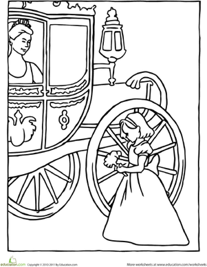 Royal Carriage Coloring Page