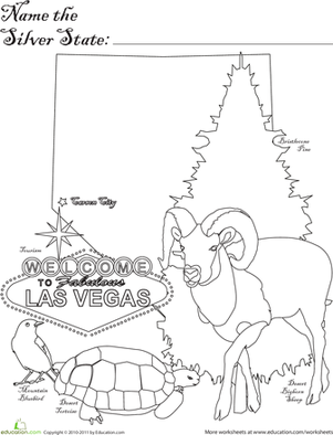 First Grade Social studies Worksheets: Silver State