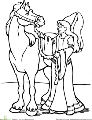 farytale princess coloring pages - photo#28