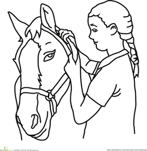 Color the Girl with the Horse
