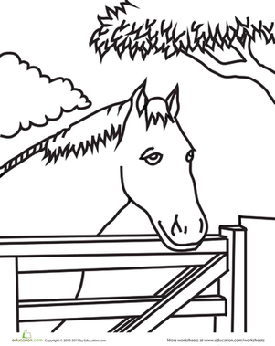 Color the Horse in the Pen