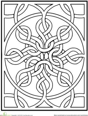 Kindergarten Coloring Worksheets: Celtic Mandala