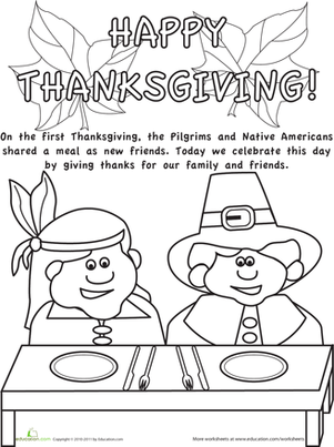 Color the Thanksgiving Picture