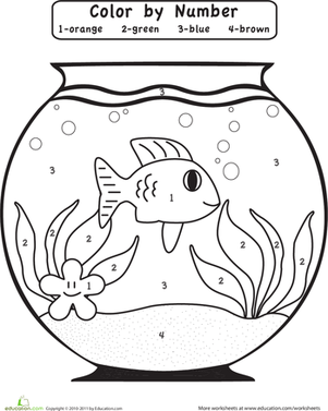 Preschool Color by Number Coloring Pages & Printables Page 2 ...