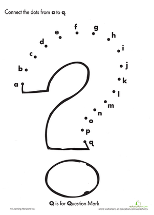 Alphabet Dot to Dot: Q