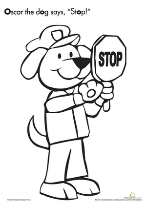 Crossing Guard Coloring Page