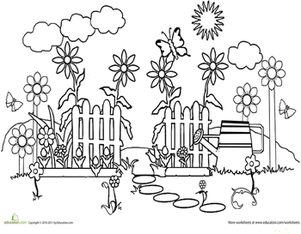 color the garden path