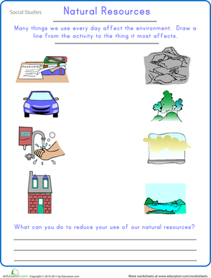 Second Grade Science Worksheets: Preserving Natural Resources