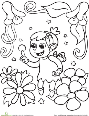 Color the Young Fairy