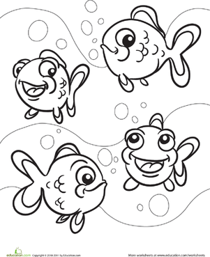 Color the Fishy Friends