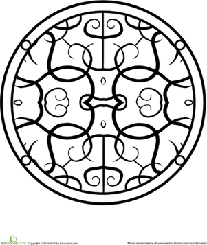 Preschool Coloring Worksheets: Simple Mandala