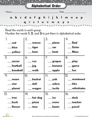 36 New Abc order Worksheets Pictures | Tampascifi.us