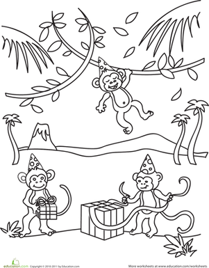 Birthday Monkey Worksheet Education