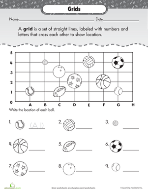 Printables Coordinate Grid Pictures Worksheets coordinate grid basic practice with sports worksheet education com
