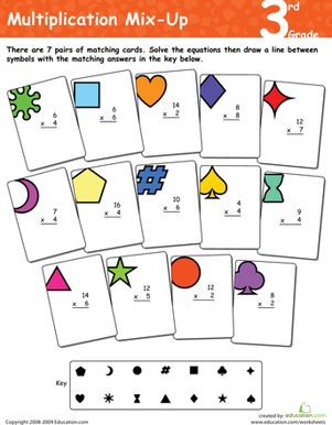 Multiplication Mix-Up: 3rd Grade | Worksheet | Education.com