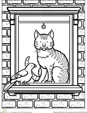 City Kitty Coloring Page