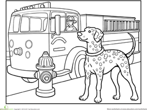 first grade coloring worksheets dalmatian coloring page