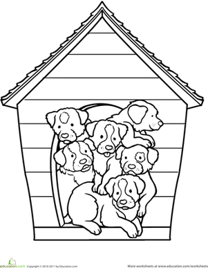 animal coloring pages for kids dogs jokes | Weiner Dog Puppy | Worksheet | Education.com