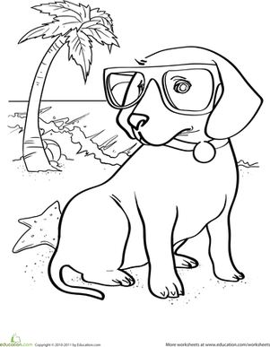 puppy worksheet coloring pages - Kindergarten Coloring Pages
